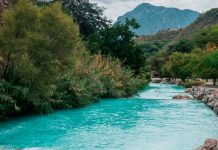 Thermal waters river in Tolantongo