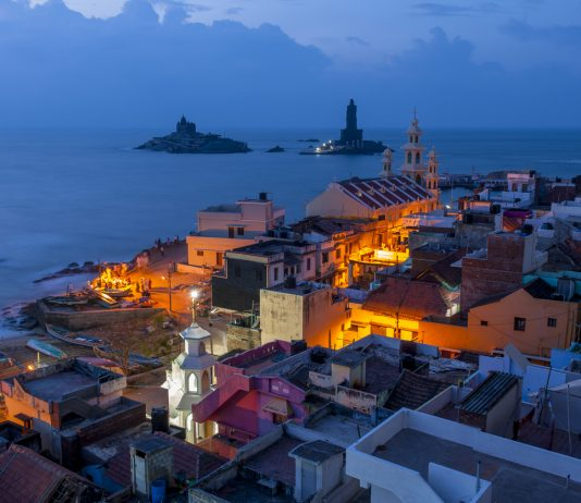 Peaceful scene of Kanyakumari, India