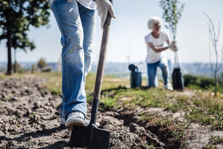 Volunteer Man Digging Voluntourism