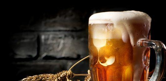 Beer near brick wall medieval beer