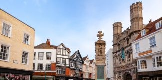 Canterbury Buttermarket in Old Town Kent Southern England UK