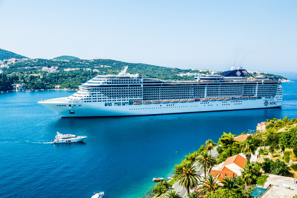 MSC Divina cruise ship in Dubrovnik