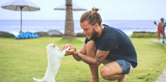 hotel in Bali offers puppy therapy