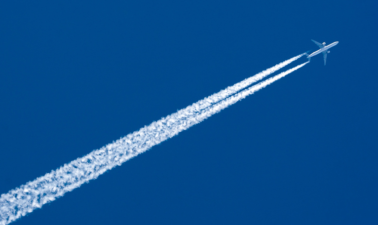 Airplane Leaving Contrail plane travel