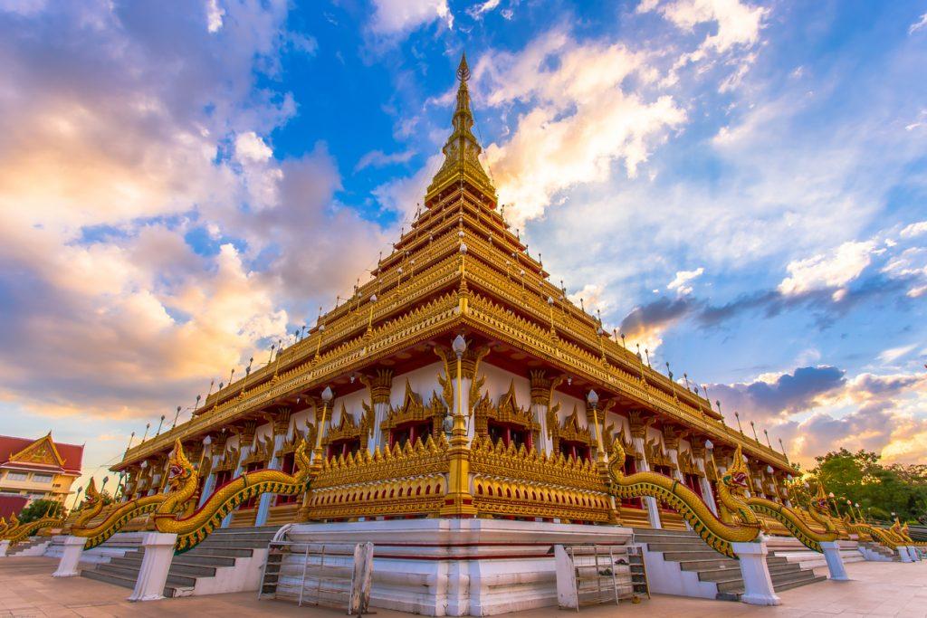 Landmark Khonkaen Thailand North-East, Buddha temple. travel insurance in thailand