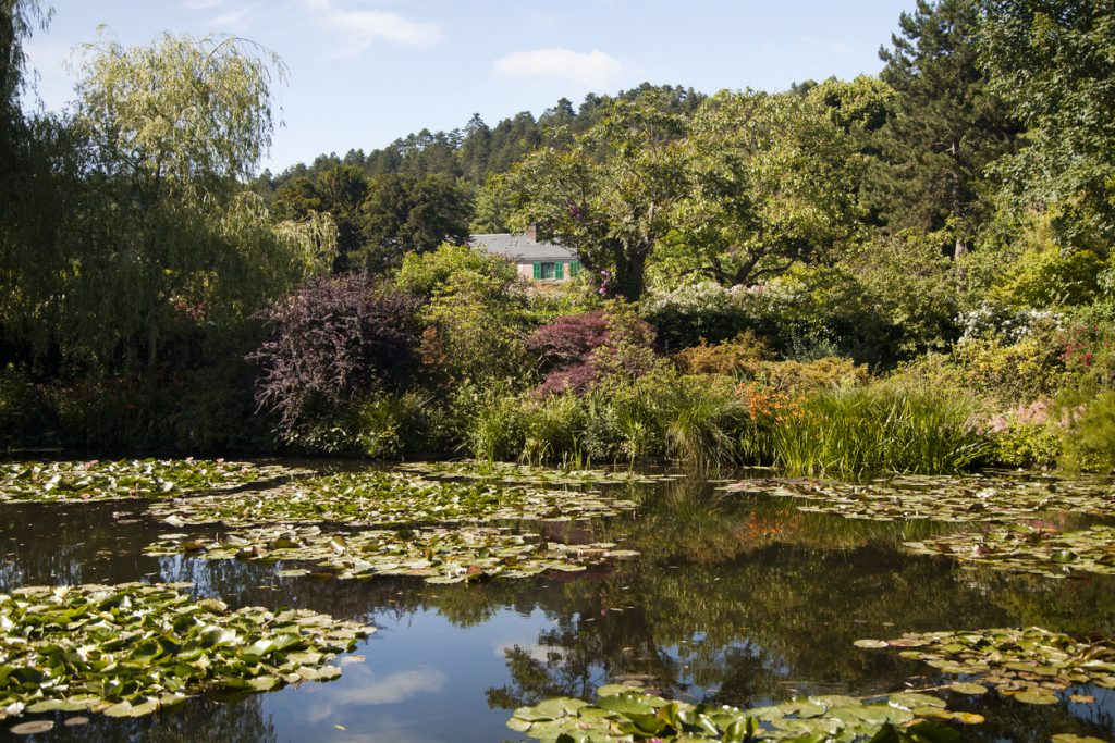 House and garden of Claude Monet in Giverny on a sunny day