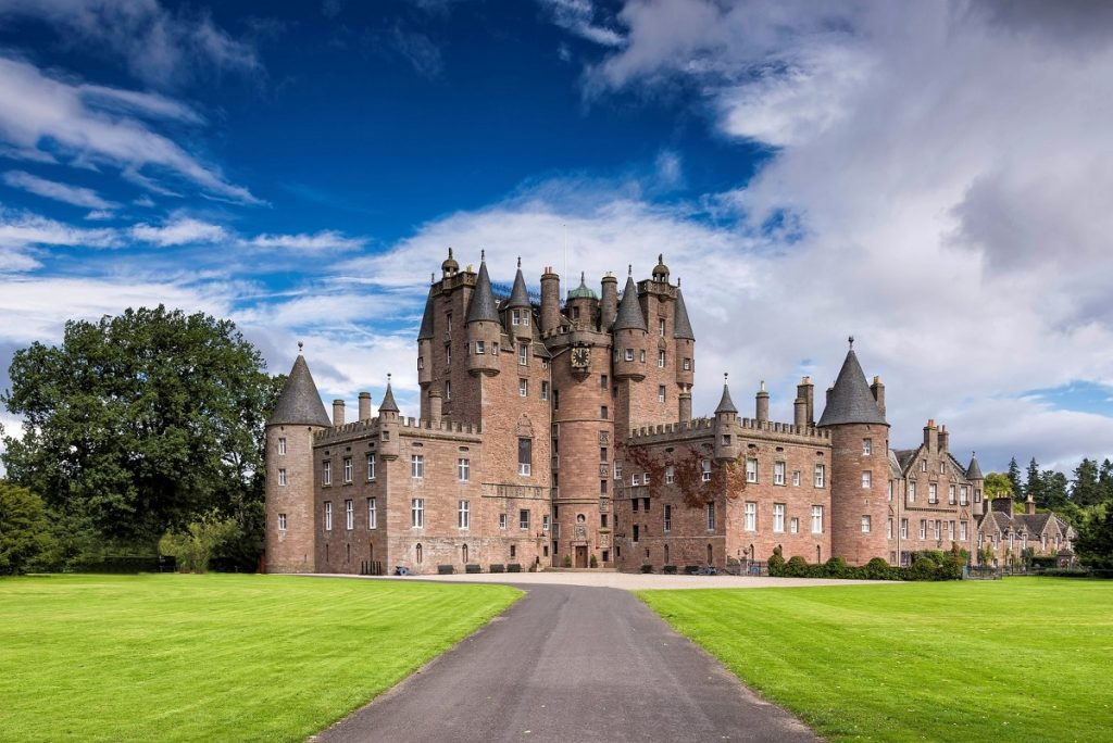 Glamis Castle in Scotland, United Kingdom