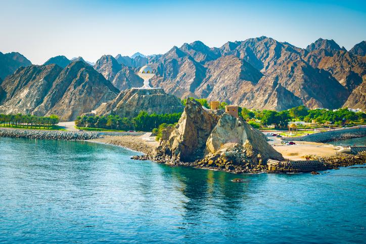 Muscat, Oman. Mountain landscape.