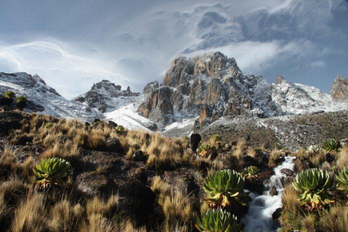 Mount Kenya at Sunrise