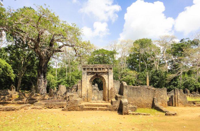 Ruins of Gede (Gedi). Ancient city near Malindi. Kenya