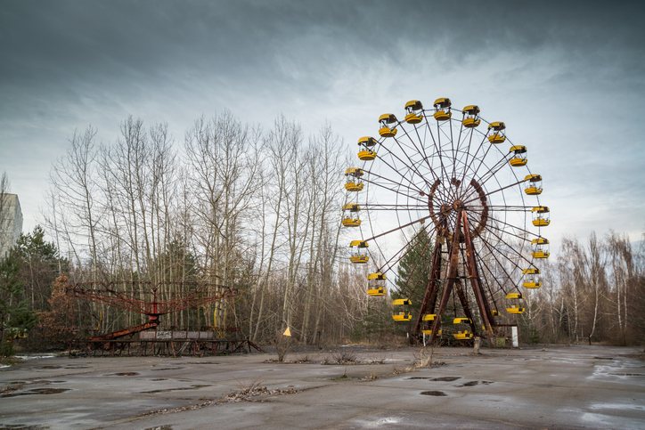 The abandoned town on Pripyat in Ukraine