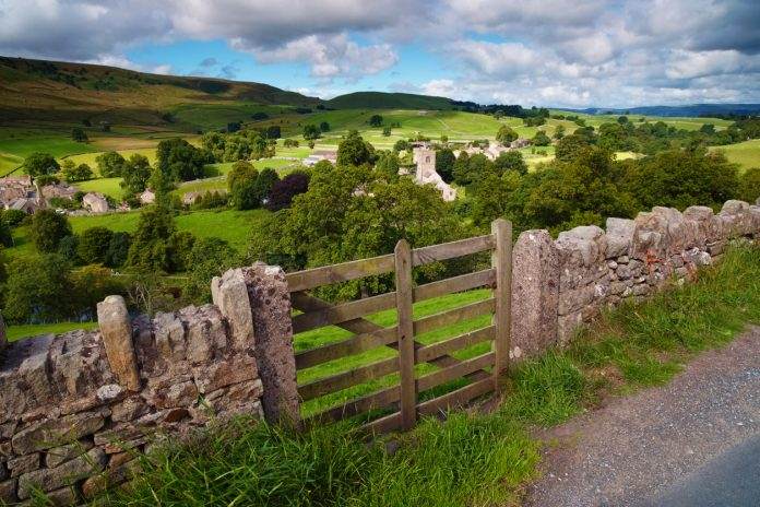 View Over Burnsall In The Yorkshire Dales, motorcycle rides