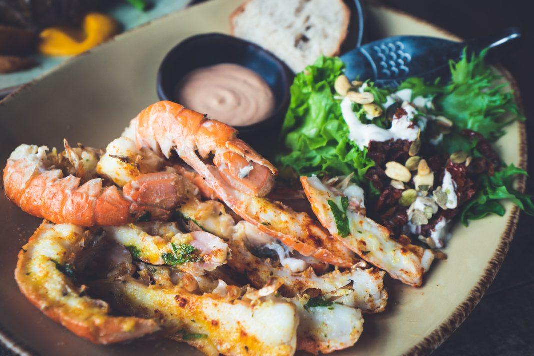 Langoustines - Icelandic cuisine made of lobster. Iceland national food. icelandic dishes