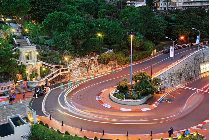 Grand Hotel hairpin in Monaco