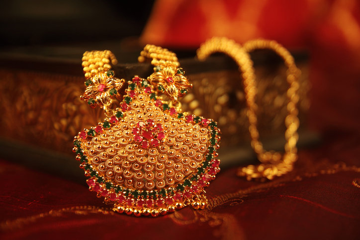 Indian Traditional wedding Gold Necklace
