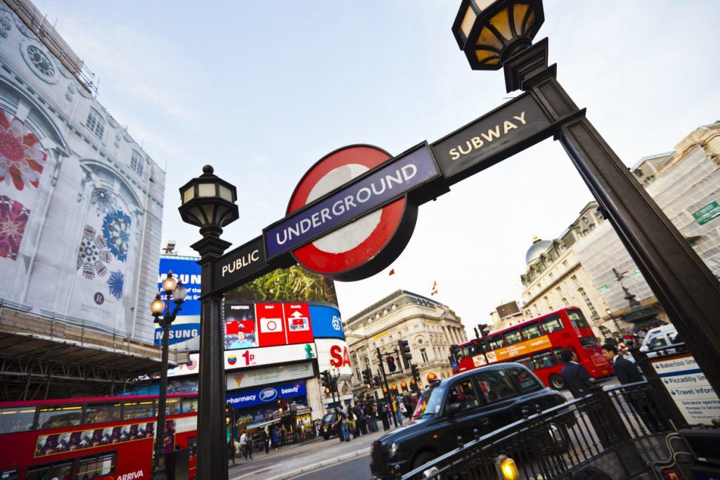 London's underground entrance