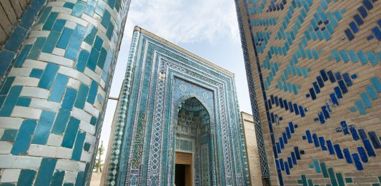 Beautiful Shah-I-Zinda Mausoleums