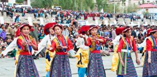 Ladakh folk dance performance in Ladakh festival