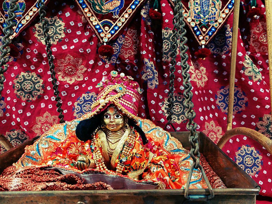 Hindu Lord krishna in its baby form