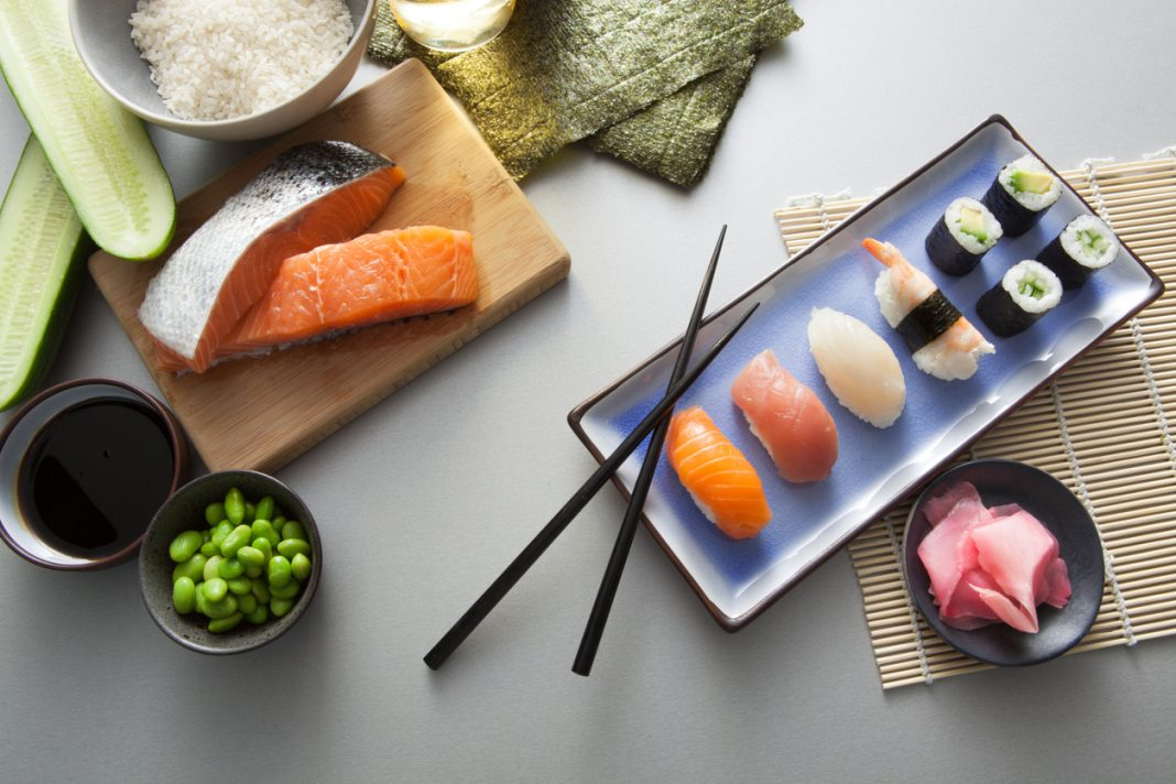 Asian Food: Sushi Still Life