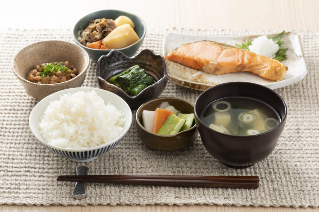 japanese cuisine set meal