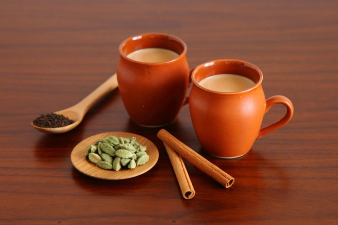 Homemade Indian Sweet Chai (Spices - cardamom, cinnamon, ginger)