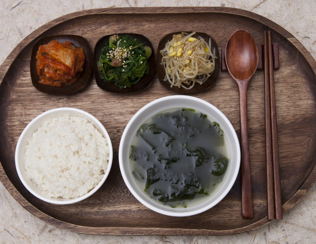 Korean traditional dining table
