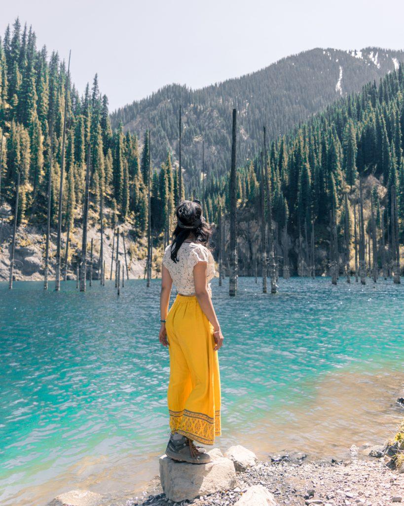 Kaindy Lake Kazakhstan.