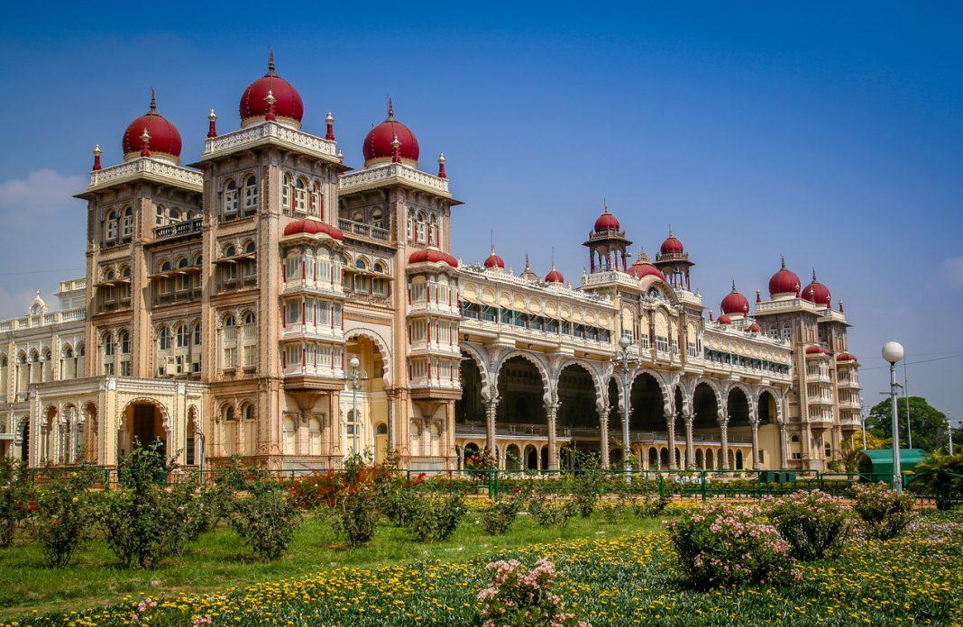 The beautiful Maharajahs Palace in Mysore, Karnataka, India