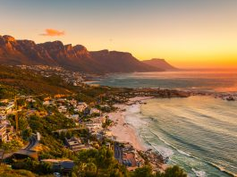 Clifton beach without people in the late afternoon - South Africa safari