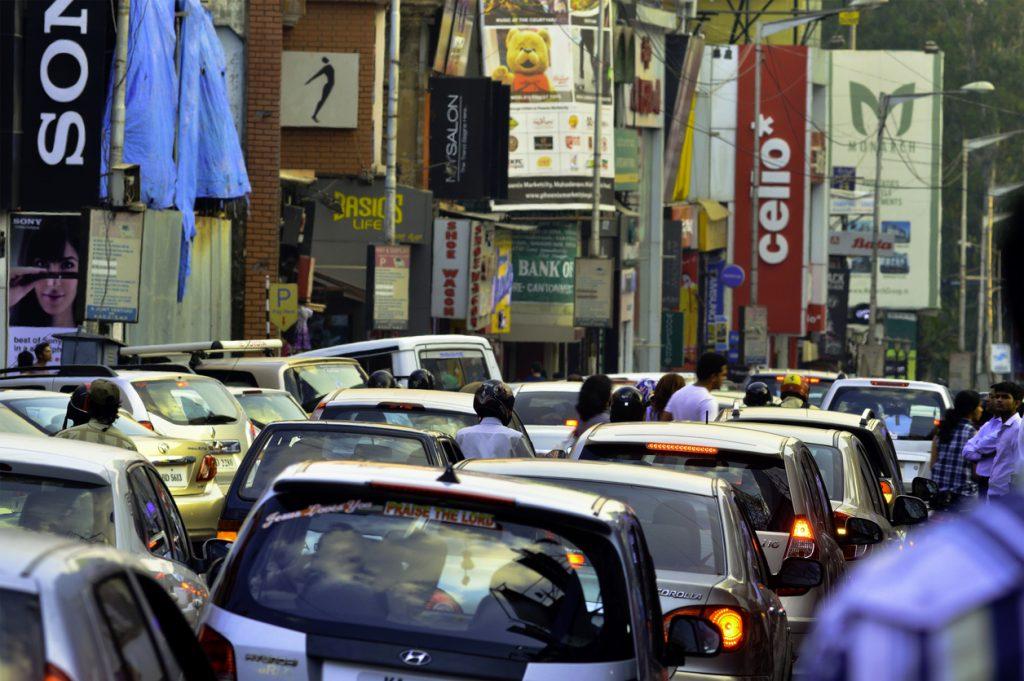 Brigade Road, Bangalore Traffic