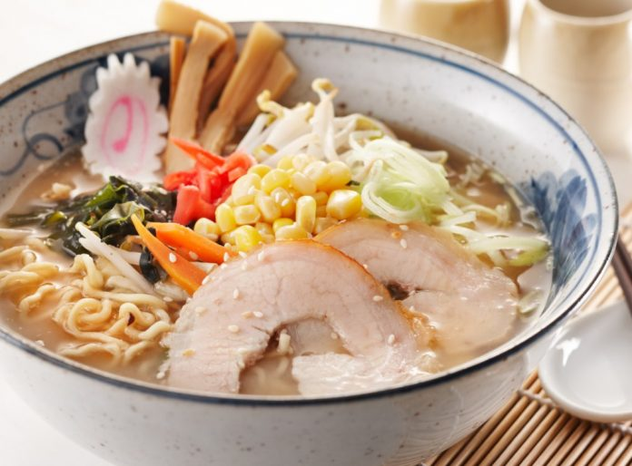 delicious miso ramen, shallow depth of field