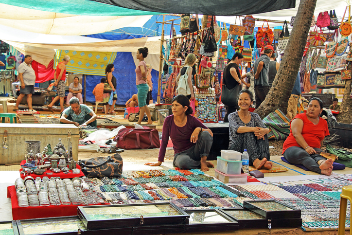 Flea Market in Anjuna Beach, traditional markets in India