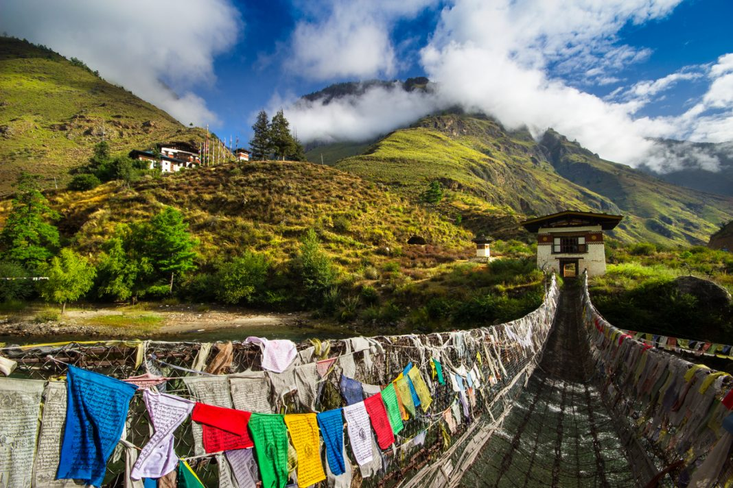 Iron Bridge of Paro, Bhutan