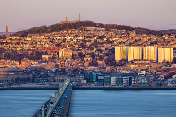 Dundee skyline at sunrise