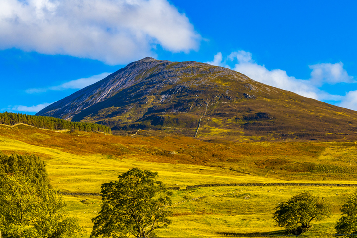 View of Schiehallion Mountain in Scotland