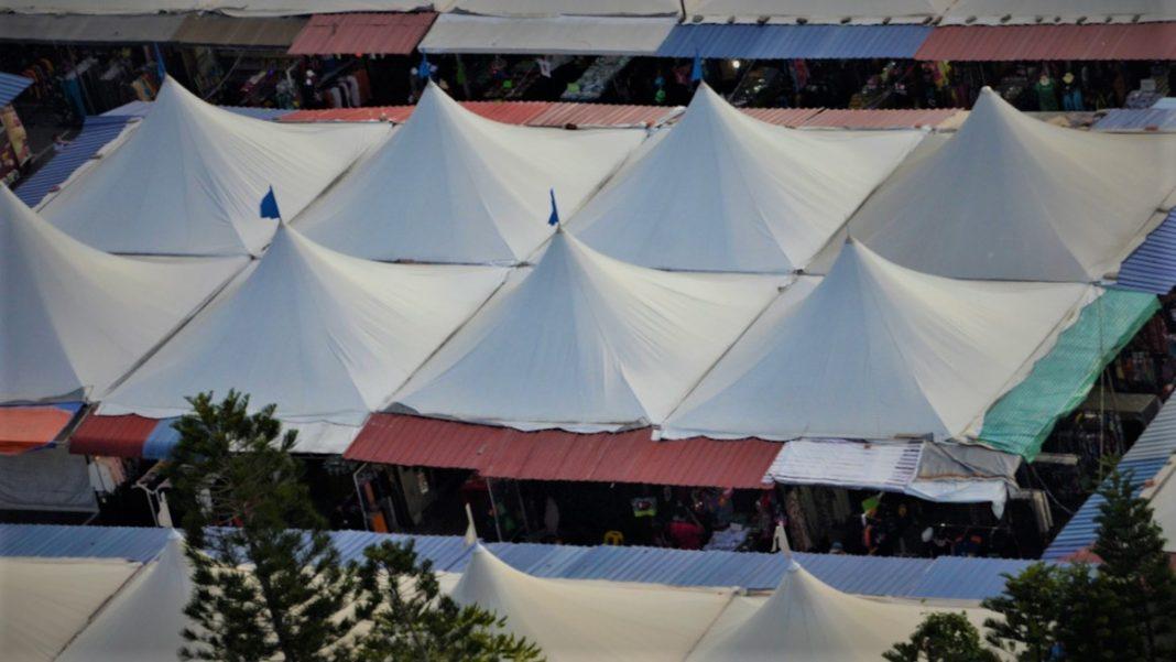 market umbrellas in langkawi malaysia
