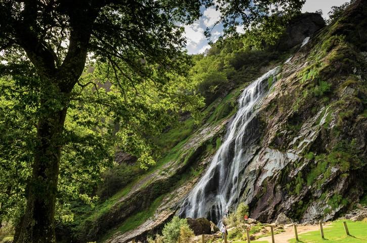 Powerscourt Waterfall at Enniskerry, Co Wicklow.