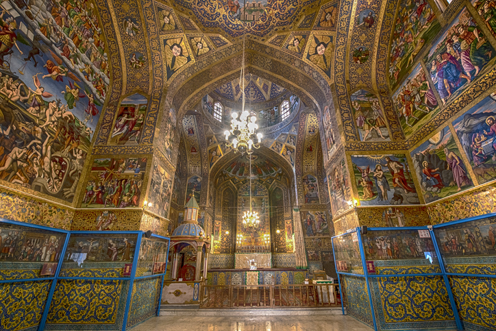 Interior decor (frescos) Vank Cathedral Iran