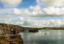 Harbor of Stromness, Orkney-Island.