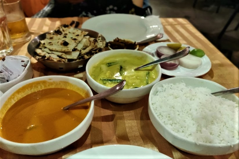 Various dishes at Martin's Corner in Goa