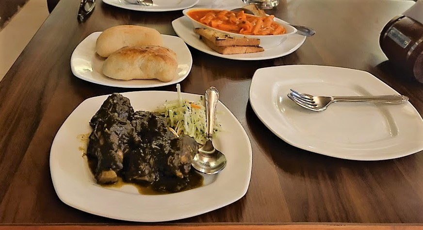 Food from the goan restaurant, Terry's