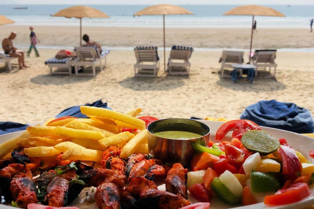Seafood at Palolem Beach