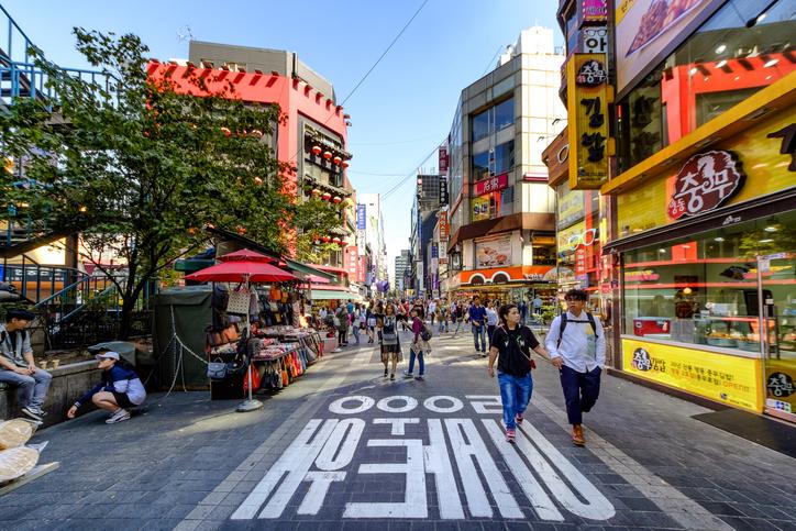 Myeong-Dong shopping street south korea