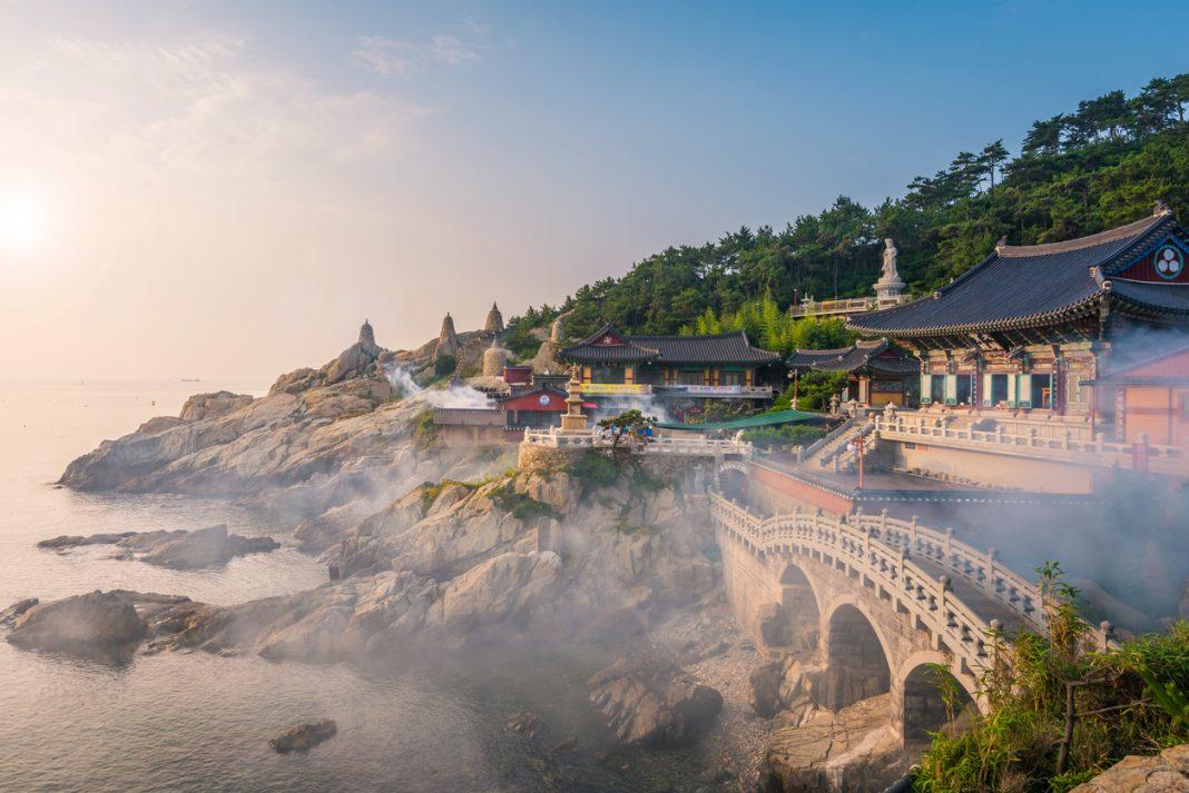 Haedong Yonggungsa Temple in Busan, South Korea.