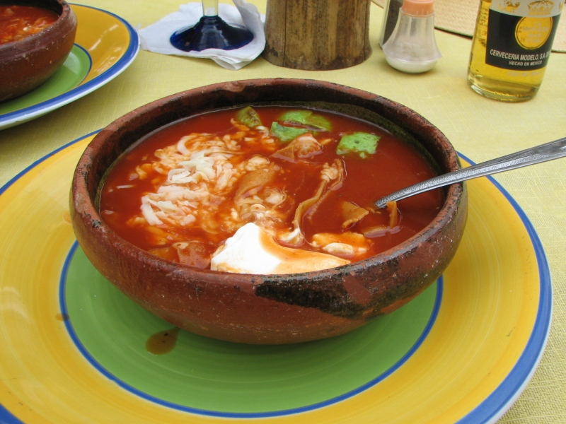 Sopa Azteca, soup from Mexico
