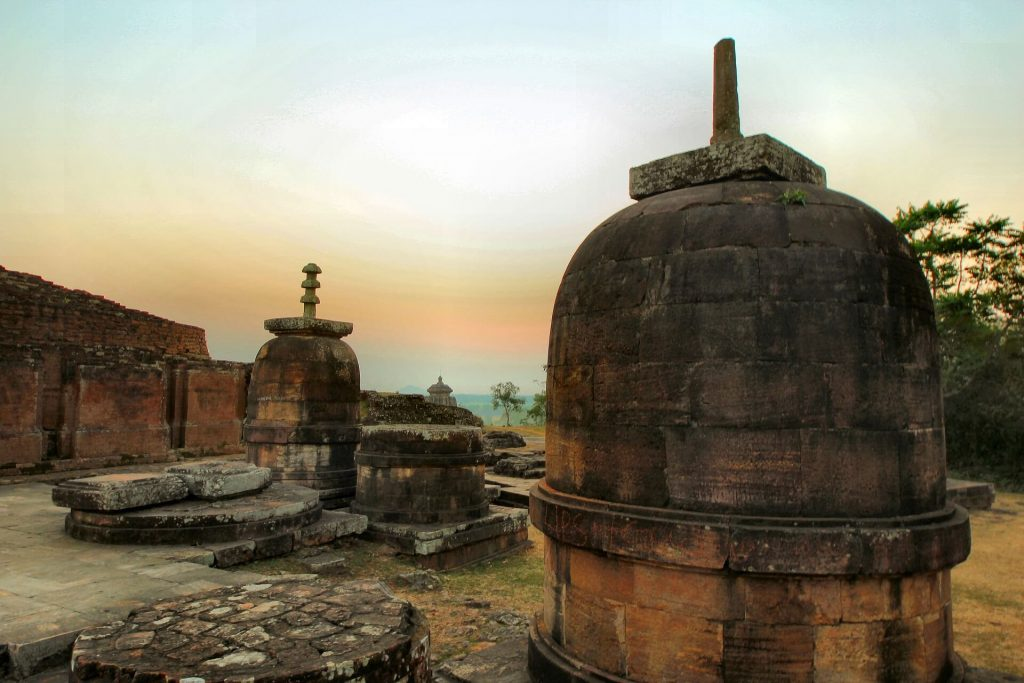 large stupas at Ratnagiri