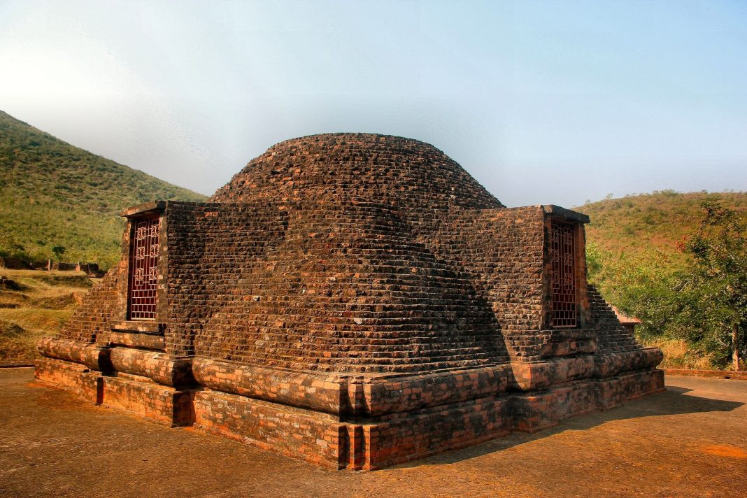 Mahastupa (10th Century A.D) at Lalitgiri, buddhist sites in Odisha, India