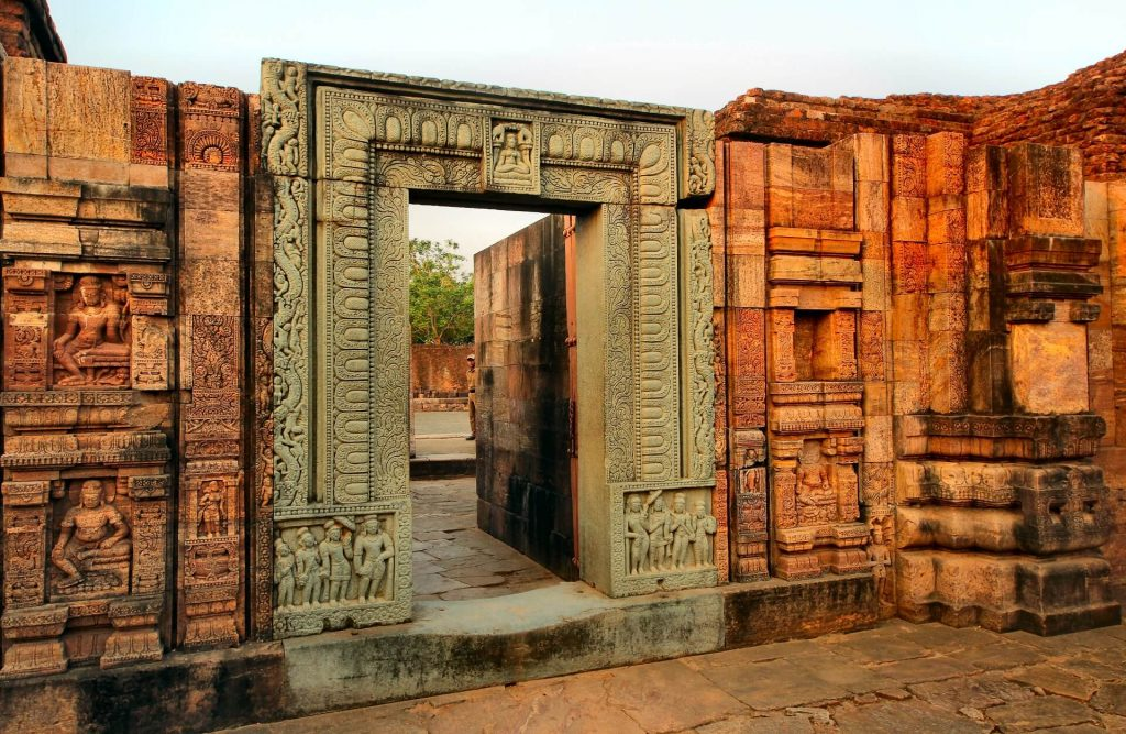 The intricate entrance to the monastery in Ratnagiri, buddhist sites in Odisha