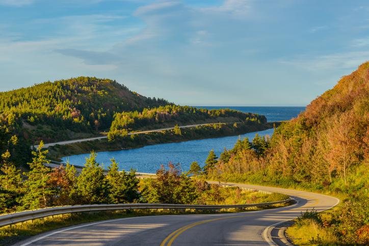Cabot Trail Highway, Cape Breton, Nova Scotia, Canada